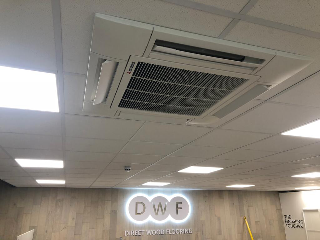 Overhead air conditioning unit